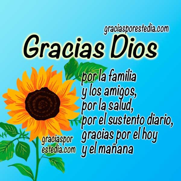 frases en imagen de gracias a Dios por todo