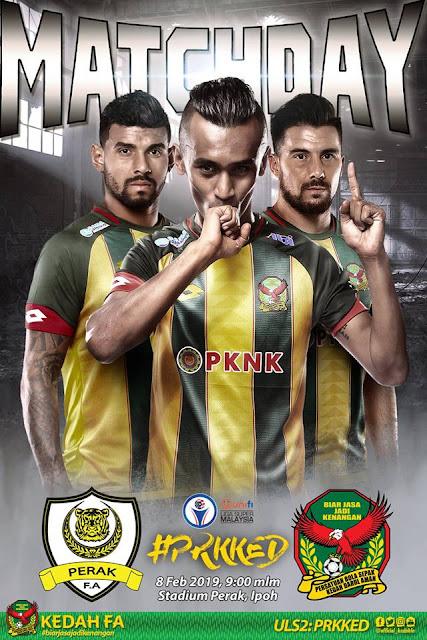 Perak vs Kedah Live Streaming Liga Super 8.2.2019