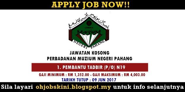Jawatan Kosong Perbadanan Muzium Negeri Pahang