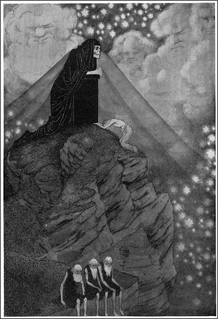 """Time"" by Sidney Sime, illustration for ""Time and the Gods"", Lord Dunsany"