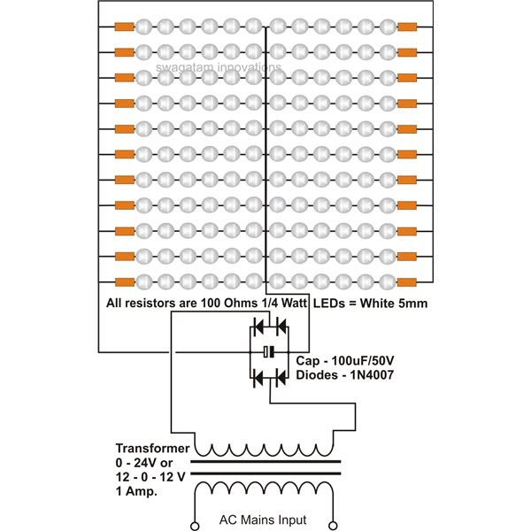 Wiring panel: LED Tube Light Using Transformer Circuit Diagram