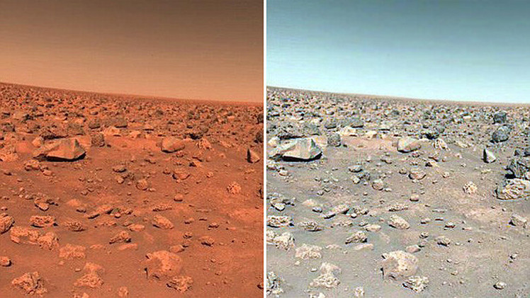 The real color of the red planet: Is Mars really red ...