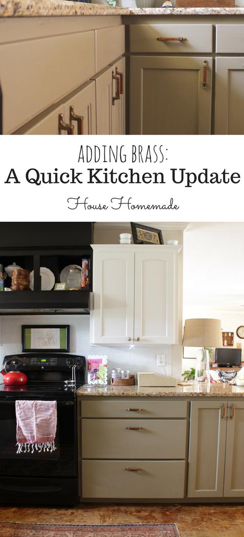 Adding brass: A quick kitchen update