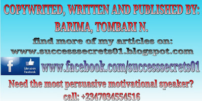 copywrited, written and published by BARIMA, TOMBARI N.