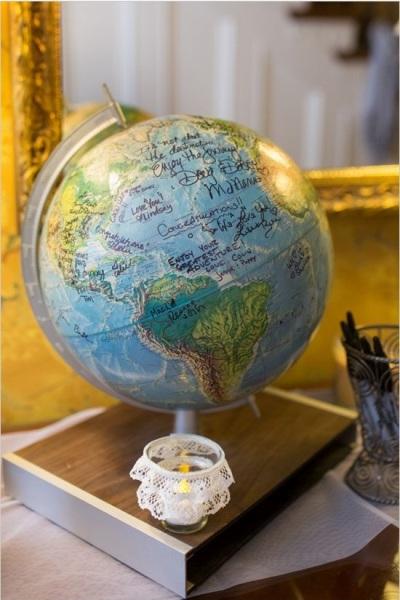 Tuliskan hal-hal istimewa di globe untuk selalu mengingatkan hari-hari istimewa,