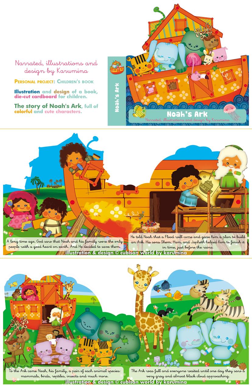 karumina children's book illustrator: Noah´s Ark Book