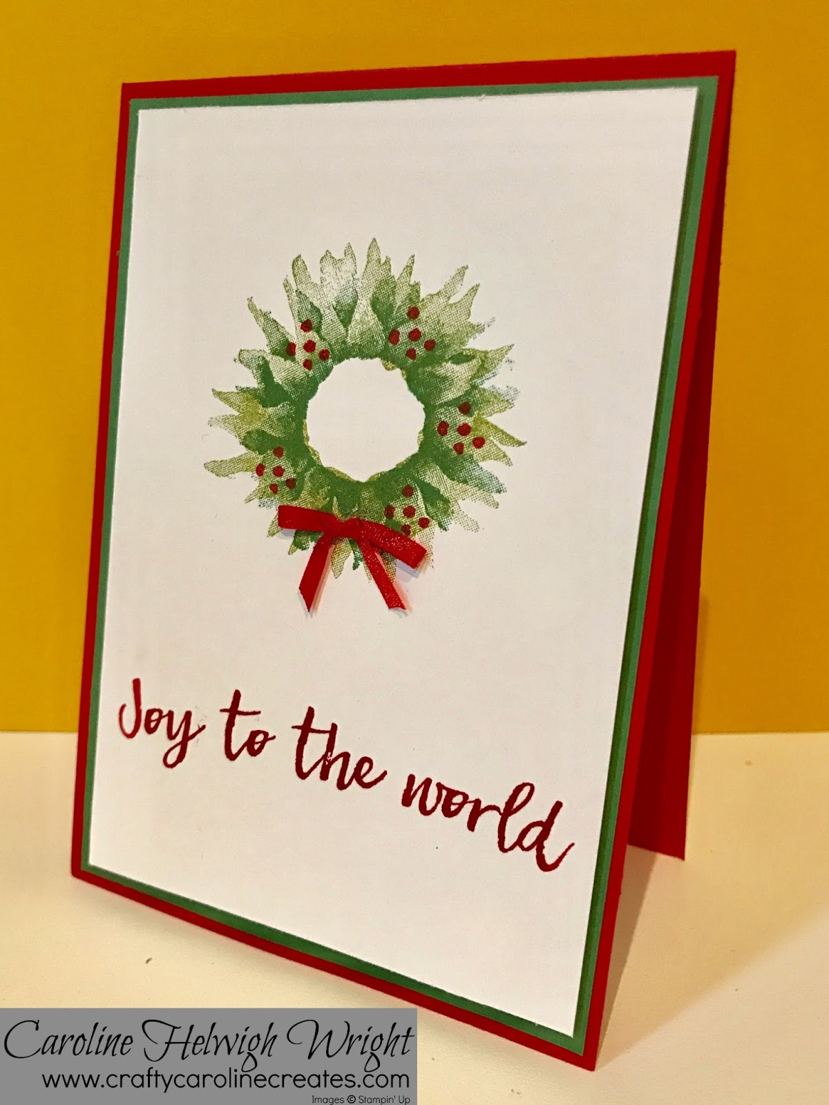 Craftycarolinecreates christmas with painted harvest for Painted christmas cards
