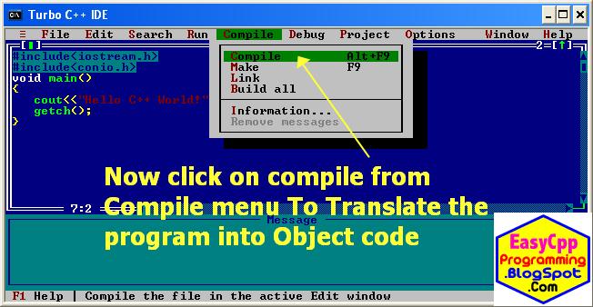 Compile C++ program