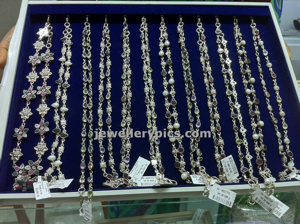 silver anklets or pattilu in nalli jewellers latest