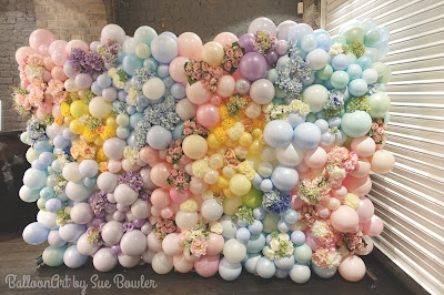 Organic Balloon and Flower Wall by Sue Bowler CBA