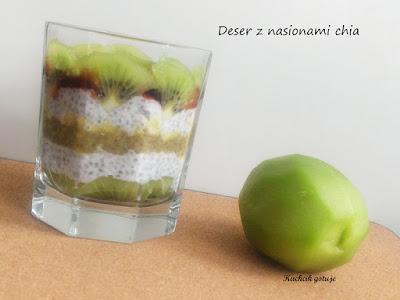 Deser z chia i kiwi