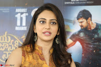 Rakul Preet Singh smiling Beautyin Brown Deep neck Sleeveless Gown at her interview 2.8.17 ~  Exclusive Celebrities Galleries 121.JPG