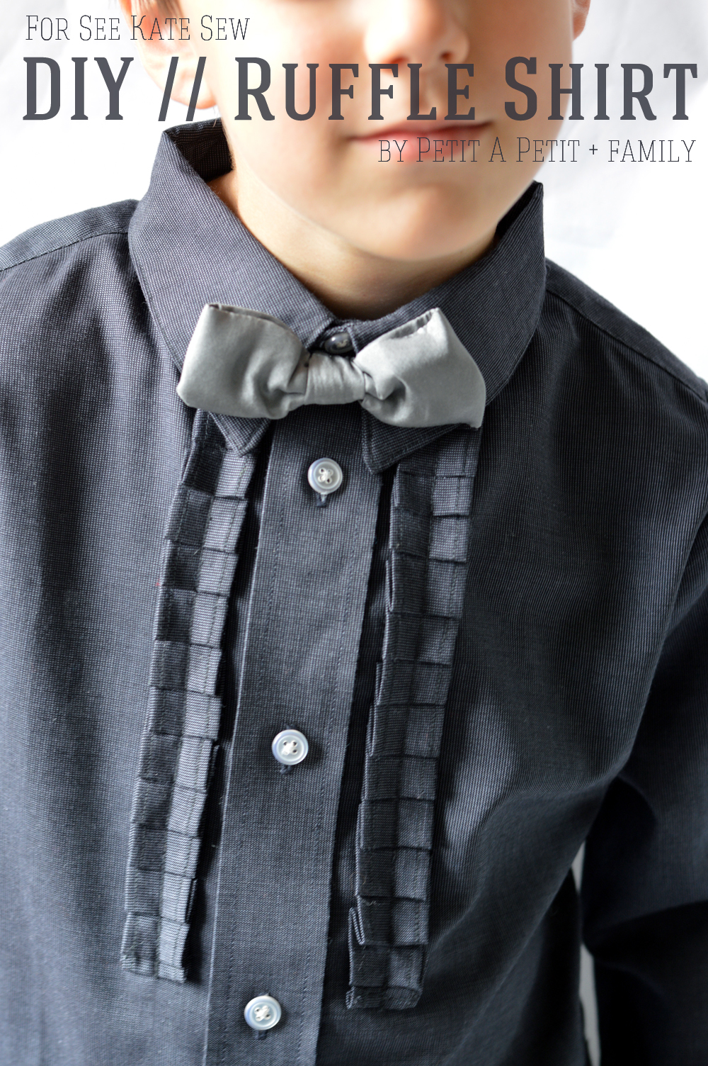 DIY ruffle shirt tutorial for BOYS! | kids clothing tutorials | sewing kids clothes | diy kids clothing | diy clothing for kids | sewing tutorials and tips | free sewing tutorials | sewing patterns for kids clothing || See Kate Sew