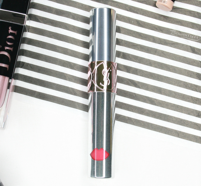 new ysl volupte liquid color balm in grab me red
