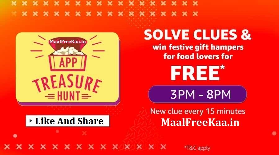 Amazon App Treasure Hunt Win Free Surprise - Freebie
