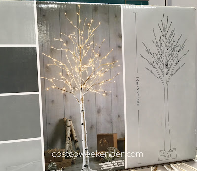 Give your place a more festive and natural look with the LED Birch Tree