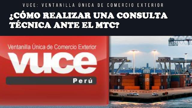 consulta técnica ante el MTC