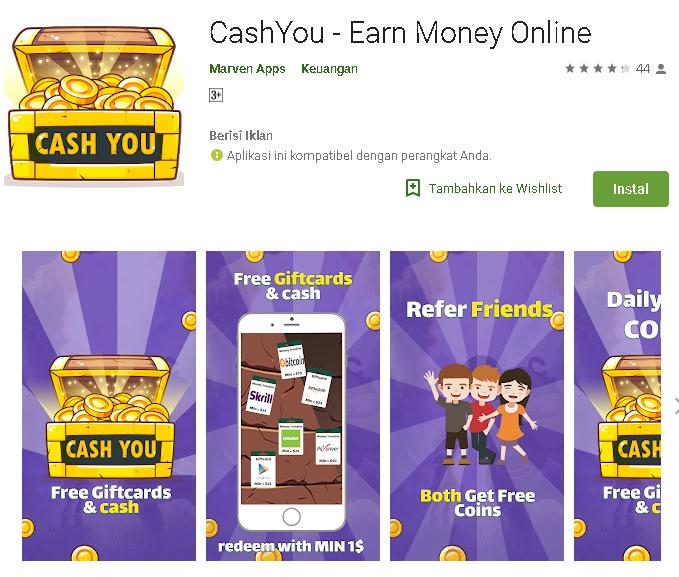 Tutorial Nuyul Aplikasi CashYou Via termux Android - Kumpulan Remaja