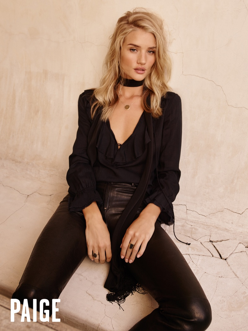 Paige Denim Spring/Summer 2017 Campaign featuring Rosie Huntington Whiteley