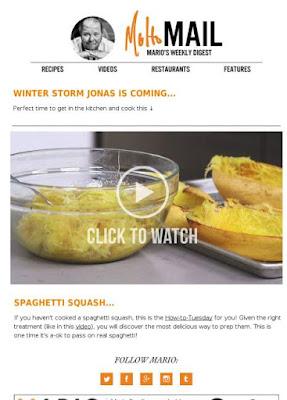 newsletter efficaci con le immagini di cibo