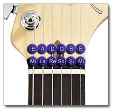 Notas de Afinación Estándar de Guitarra (Afinación de Concierto)