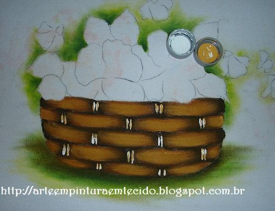 pintura em tecido como fazer cesta