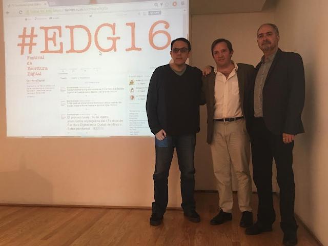 Primer Festival de Escritura Digital en la Ciudad de México #EDG16