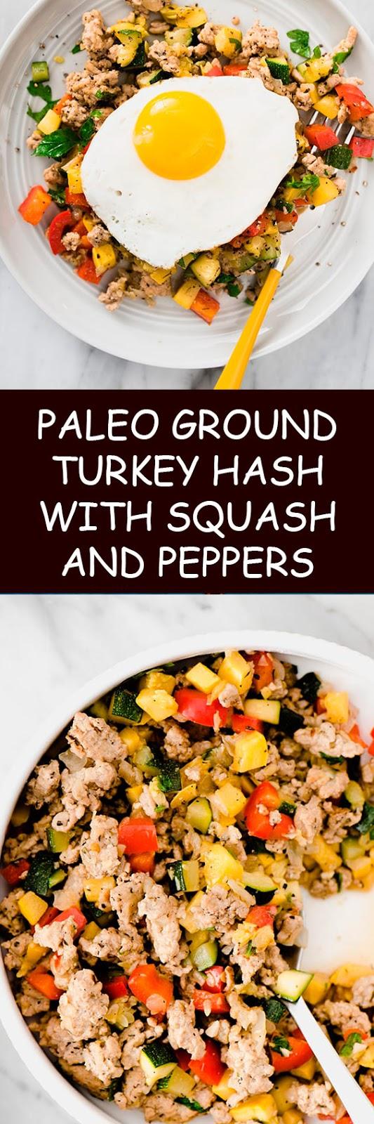 Paleo and Whole30 Ground Turkey Hash