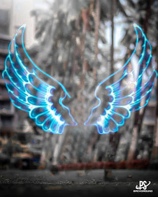 Neon wings picsart background