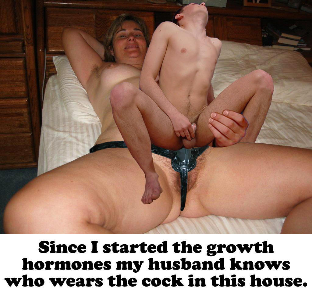 Fucking Husband With Strap On