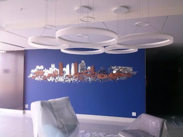 pintura em hotel