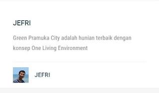pelanggan apartemen green pramuka city
