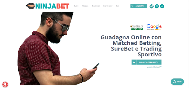 NinjaBet: la migliore piattaforma per fare Matched Betting