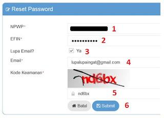 Troubleshooting Efiling Pajak Lupa Password Efiling, Lupa Email untuk Efiling atau Email Sudah Tidak Aktif