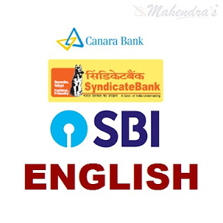 English Questions For SBI Clerk and Syndicate Bank PO | 02 - 02 - 18