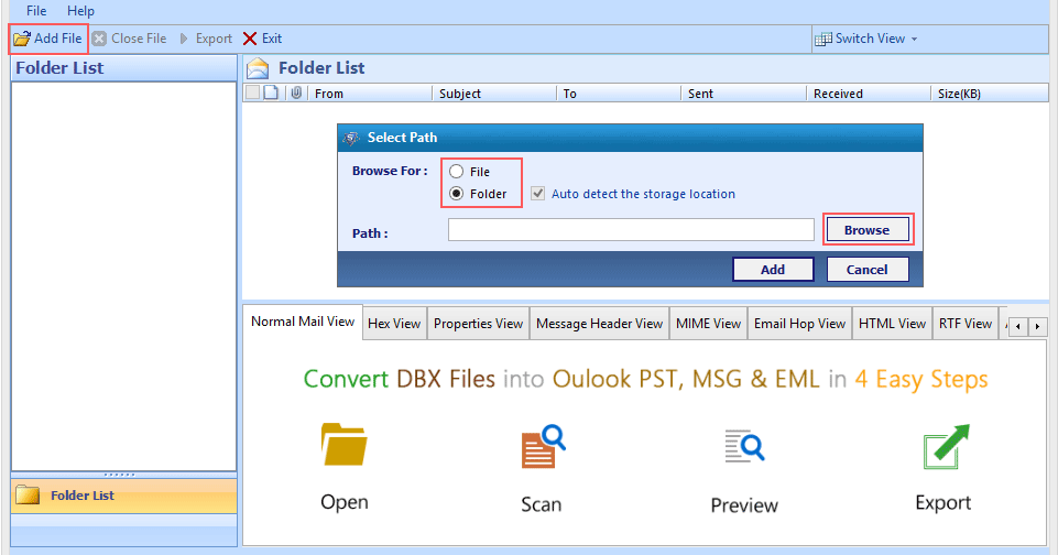 how to add archive file to outlook
