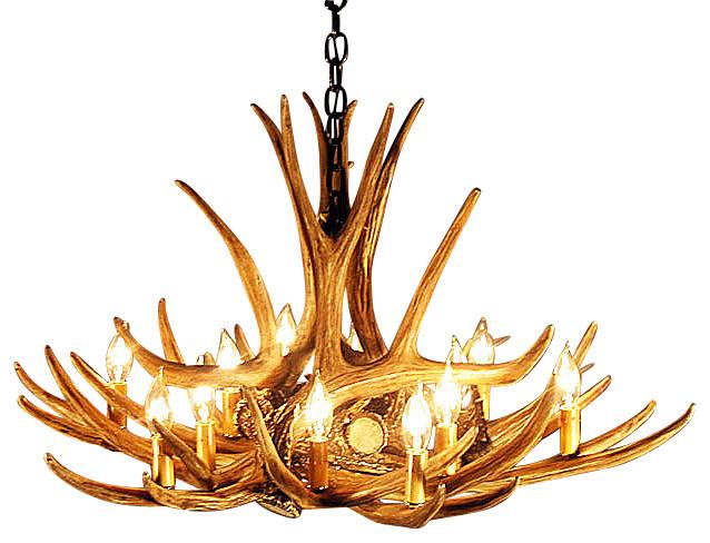 antique rustic antler chandelier design