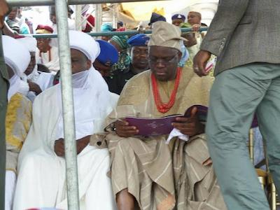 fayose at Oba Saliu Akanmu Adetunji olubadan of ibadan coronation