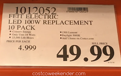 Deal for the Feit LED 100W Replacement Light Bulb at Costco