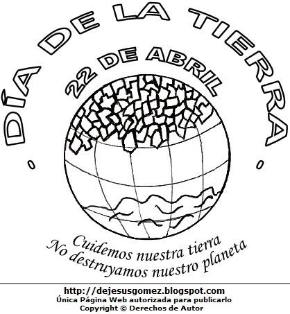 Imagen del Día de la Tierra para colorear o pintar. Dibujo del Día de la Tierra hecho por Jesus Gómez