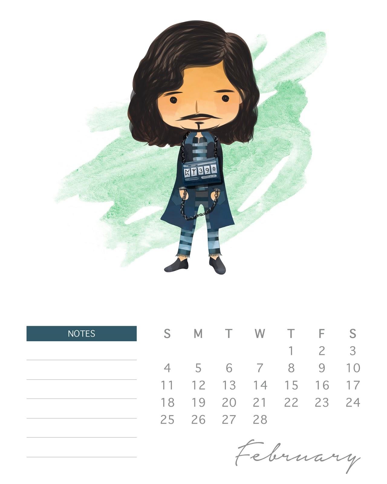 Calendario 2018 De Harry Potter Para Imprimir Gratis Oh My