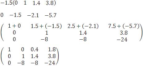 paso 4 para resolver un sistema de ecuaciones en tres variables con el método gauss-joran