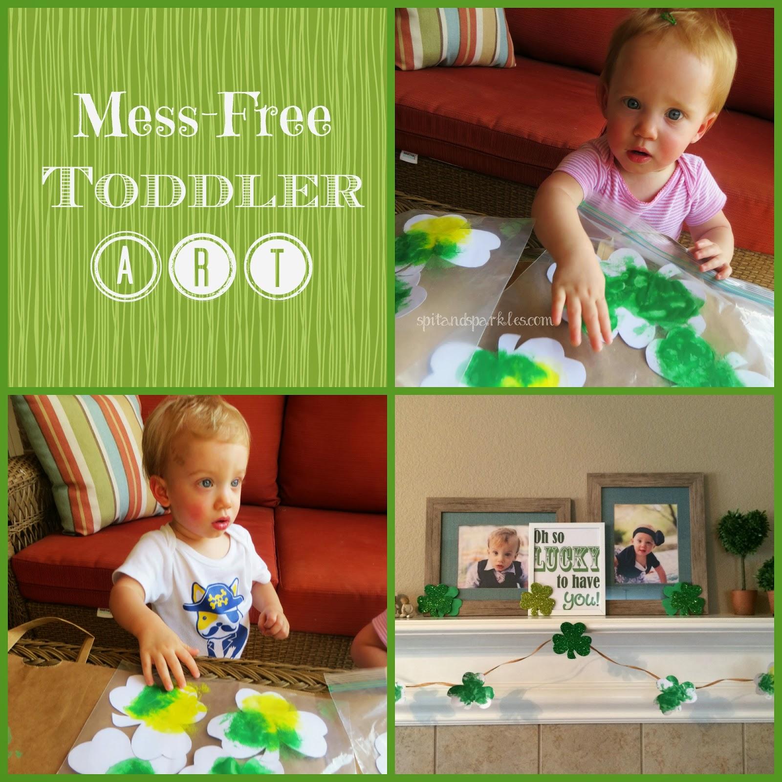 Mess Free Toddler St Patrick S Day Art