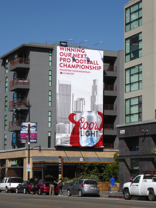 Coors Light Winning next Pro Football billboard