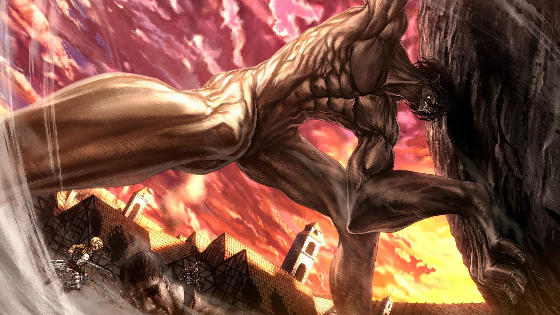 Wallpaper Anime Rogue Titan Attack On Titan Shingeki No
