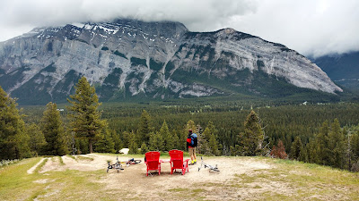 Red Chairs on Tunnel Mountain, Banff