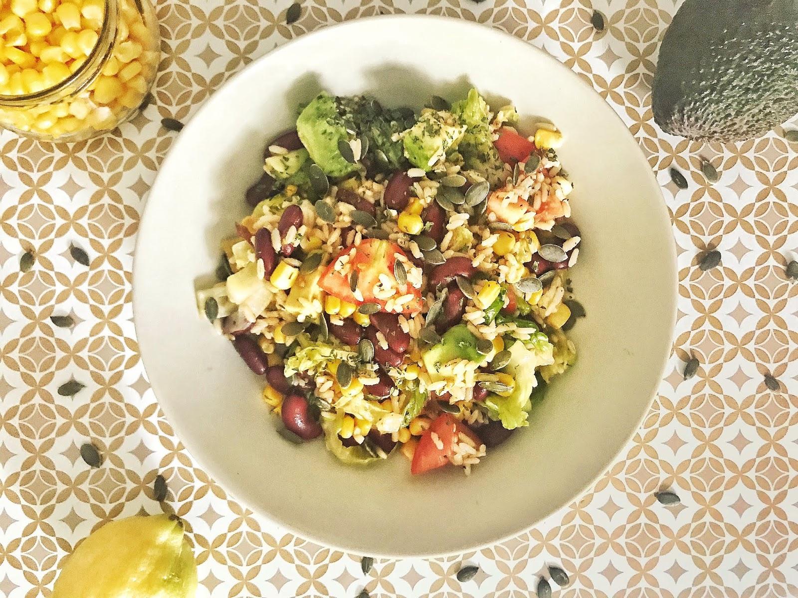 salade healthy et complète mexicaine