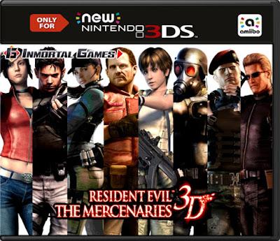 Resident Evil The Mercenaries 3D Decrypted 3DS USA