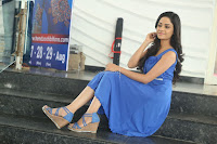 Divya Nandini stunning Beauty in blue Dress at Trendz Exhibition Launch ~  Celebrities Galleries 027.JPG