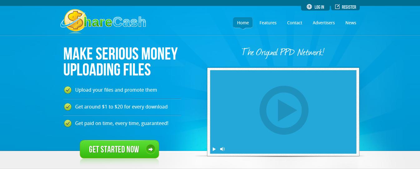 ShareCash upload files to get paid